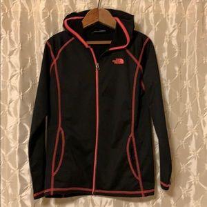 The North Face Black & Pink Zip Up Hoodie Jacket